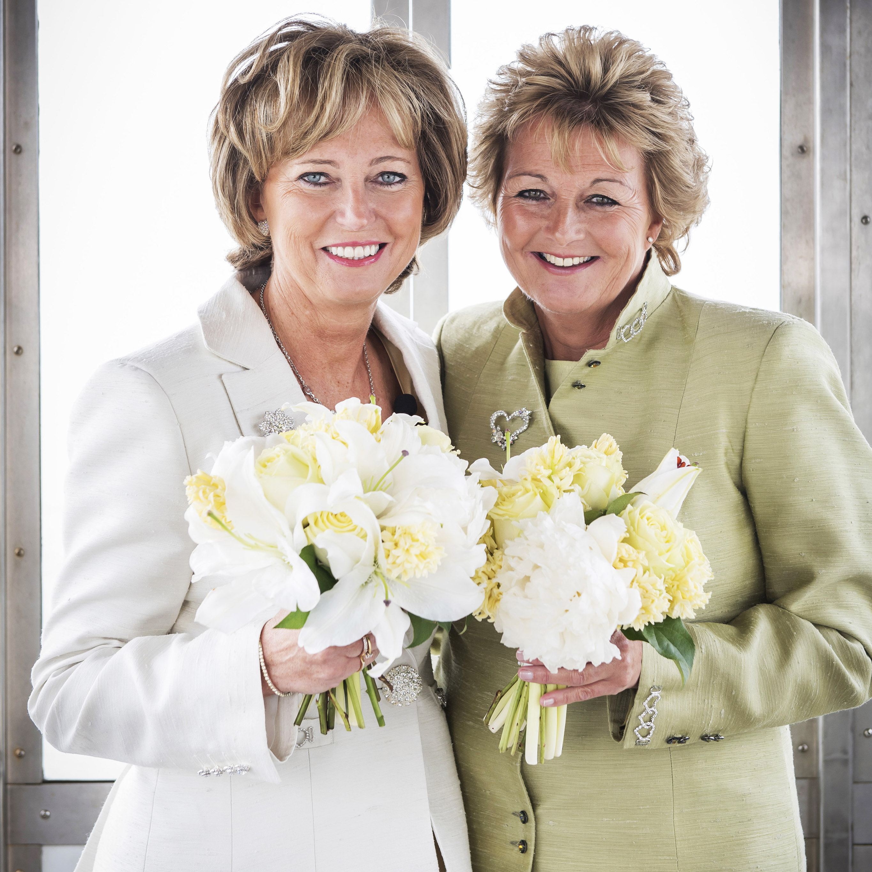 Lesbian weddings bespoke suits bridalwear for lgbt for Lesbian wedding dresses and suits